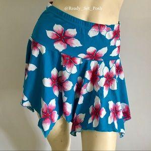 🔵 {euc} floral handkerchief mini Skirt